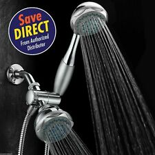 Hydroluxe® Deluxe 24-setting 3-way Overhead / Handheld Shower Combo, Chrome