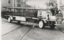 New Bedford MA RPPC, Firetruck Postcard, Engine #3 Ladder Truck