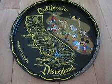 "VINTAGE CALIFORNIA DISNEYLAND 11"" METAL SERVING TRAY MICKEY MOUSE JIMINY CRICKET"