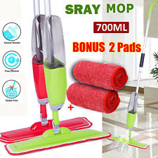 700ml Floor Mop With Spray Plus 2 Reusable Microfibre Pads Cleaner Water Kitchen