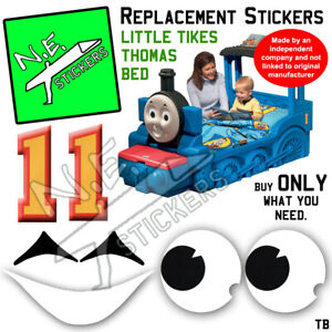 Replacement stickers SIZED TO FIT Little Tikes Thomas the Tank Engine Bed