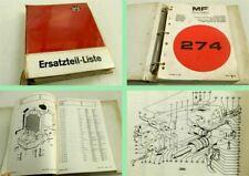 Massey Ferguson MF 274 Schlepper Ersatzteilliste Parts Book 1979