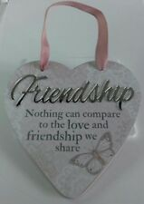 'Friendship' Hanging Heart Reflective Words & Sentiments From History & Heraldry