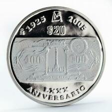 Mexico 20 pesos 80th Anniversary of the Bank of Mexico proof silver coin 2005