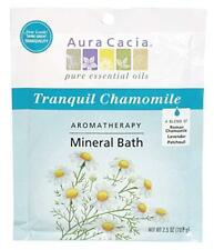 Aura Cacia Aromatherapy Mineral Bath, Tranquil Chamomile, 2.5 oz (6 Pack)