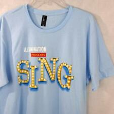 NEW Illumination Presents SING The Movie Promotional Promo T Shirt Adult Size L