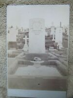 Rare Antique Cabinet Photo of Grave, Cemetery, England, Post Mortem, Funeral