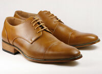 """Rusty Tan Men's Cap toe Lace Up Oxford Dress Shoes """"PREOWNED"""""""