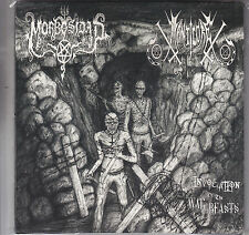 MORBOSIDAD / MANTICORE - invocation of the war beasts - split EP  7""