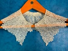 More details for vintage needle bobbin lace collar, one of a kind, dress collar, for sewing