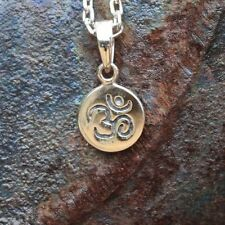 "Om Symbol Necklace Sterling Silver New Charm Jewelry Free Shipping 18"" Chain"