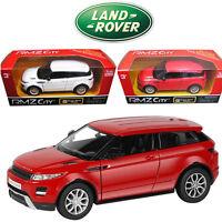 1:36 Land Range Rover EvoQue SUV Diecast Model Vehicles Pull Back Car Kids Toy