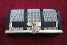 Brand New With Tags River Island Purse In Light Black With Crystal Design