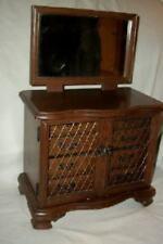Mid Century Wood Dresser Armoire Shaped Mirror Jewelry Music Box Japan Cottage