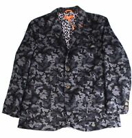 INC Mens Suit Separate Jacket Gray Size XL Sports Printed Two-Button $129 #152