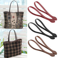 Pair Leather Handles for Handbag DIY Bag Accessories Short Straps Sewing Craft