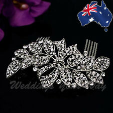 SALE Diamante Crystal Silver Hair Comb Vintage Style Diamonte WeddingBridal HC-8