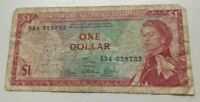 1965 East Caribbean Currency Authority 1 One Dollar - World Banknote Currency