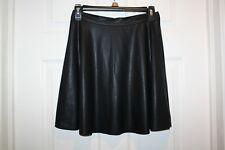 Olsenboye Faux Leather Short Skirt Elastic Waist Black Sz 7