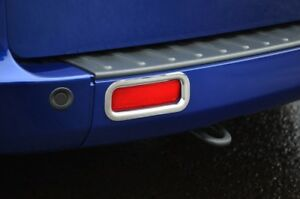 Chrome Rear Reflector Fog Light Trim Covers To Fit Ford Transit Custom (2012+)