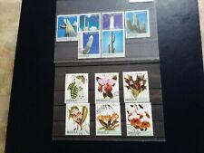 timbre thematique angola;fleurs et cactus