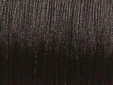 Bobine 110 mètres - Fil Cordon Tissu Nylon Tressé Noir 0.8mm - 4558550018397