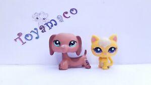 Original LPS Littlest Pet Shop Kitten #2045 + DACHSHUND #2046  - Free Shipping -