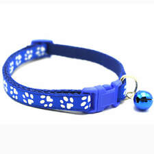 Cat Collar with Bell Royal Blue Baby Blue Hot Pink Baby Pink Fiery Red One Size