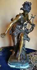"""LARGE BRONZE STATUE BY A.CARRIER BELLEUSE 33 1/2"""" tall"""