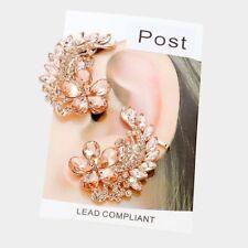 HOT Celeb 2 Pezzi D'Oro Peach Crystal Bracciale stile Piercing Orecchini ROCCE Boutique