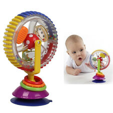 Fun Baby Toys Rainbow Ferris Wheel Rattle Clanking Suction High Chair Toys New