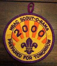 Vintage Boy Scout BSA Monterey Bay Area Council MBAC 2000 Scout-O-Rama Patch