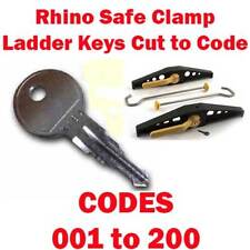 Rhino Safe Clamp Ladder Keys Cut to Code 001-200 CUT BY LOCKSMITHS FREE DELIVERY