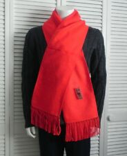 NEW Peru Luxurious Fringed Solid Red Alpaca Long Scarf