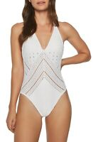 Robin Piccone Clarissa One-Piece Swimsuit 9014 Size 14 - White