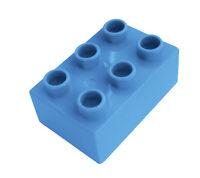 Lego Duplo 10 Stück hellblaue (medium blue) Steine 2x3 Stein 6 Noppen Neu