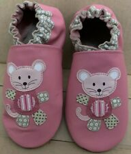 Mix Match Mouse Azalea Pink ROBEEZ Girls Soft Sole Leather Shoes 13.5-14 5-6y