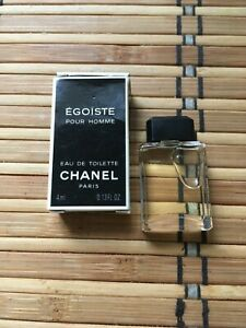 CHANEL Egoiste Pour Homme Miniature 4ml 0.13 FL oz New&boxed RARE!