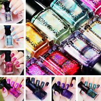 6ml Holographisch Nagellack Shiny Long-lasting Holo Hologramm Polish 16 Farben