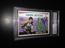 John Bucyk Signed 1971-72 O-Pee-Chee OPC AS Card Bruins PSA Slabbed #83851094