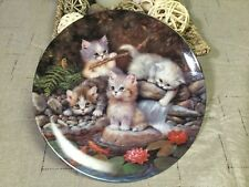 Bradex 1996 Kitten Plate,Goldfish