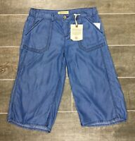 Democracy Women's Cropped Seamed Pants Blue NWT