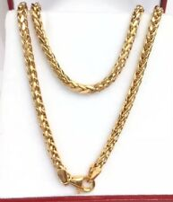 "18k Solid Yellow Gold Unisex Italian Wheat Chain/Necklace. 20"" . 6.75 Grams"