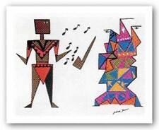 Horn Man Bill Warner African American Art Print 12x9