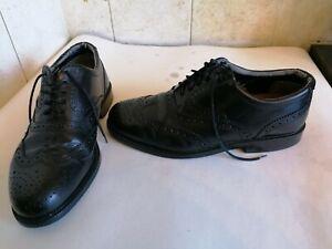Clarks Men's Black Leather Brogues Size 8.5