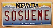 "NEVADA VANITY LICENSE PLATE  "" SO SUE ME "" LAWSUIT LAWYER  COURTROOM JUDGE LAW"