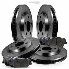 Full Kit Black Slotted Brake Rotors and Ceramic Brake Pads 2005-2006 Pontiac GTO