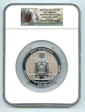2010 Hot Springs .999 Fine Silver 5 oz NGC EARLY RELEASE! GEM BU!!