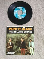 "1966 ROLLING STONES 45RPM  ""PAINT IT BLACK"" w/ orig picture sleeve LONDON"