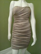 SPEECHLESS Women Evening Cocktail Party Shapeless Champagne Dress~Size L